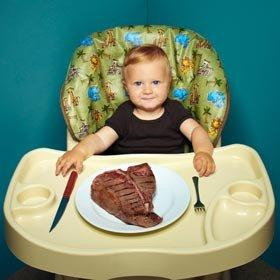 baby-eating-steak
